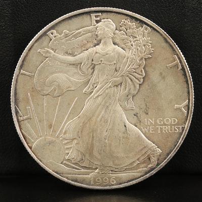 Key Date .999 Fine American Silver Eagle Coin, 1996