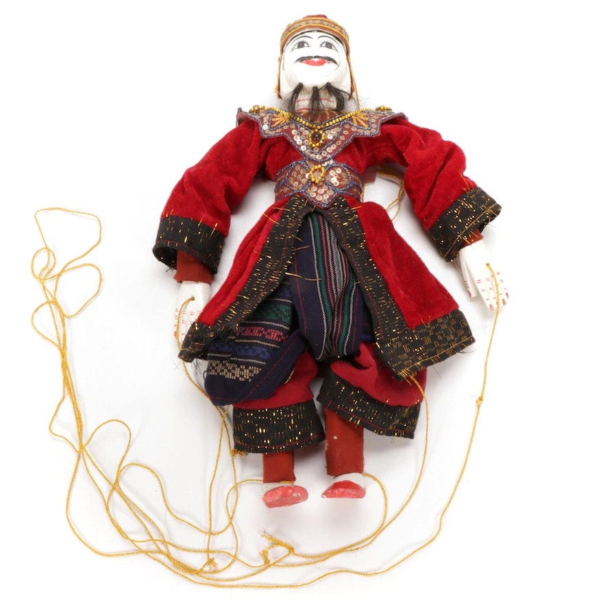 Southeast Asian Marionette in Ceremonial Attire
