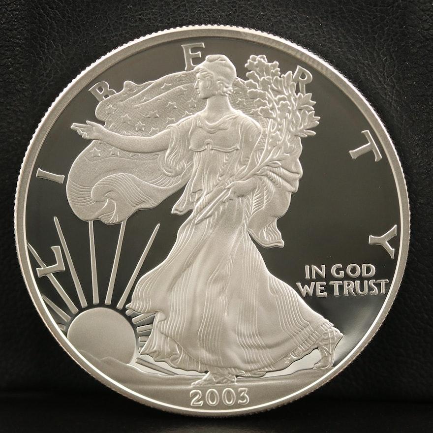 2003-W .999 Fine Proof American Silver Eagle Coin