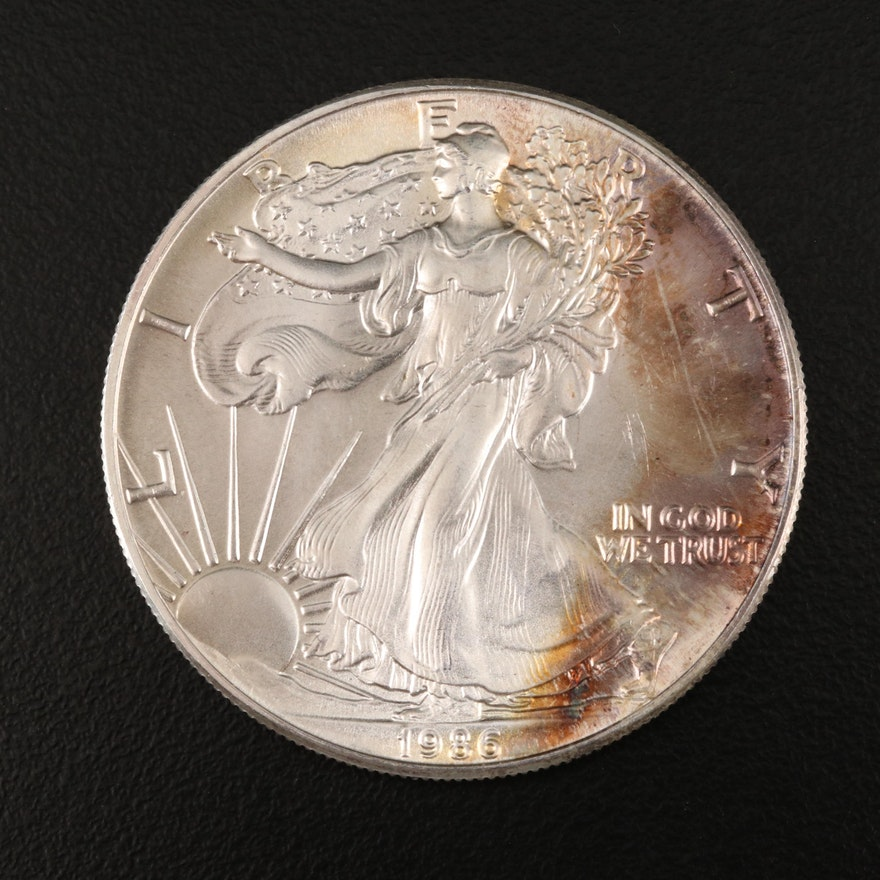 Key Date First Year of Issue .999 Fine American Silver Eagle Coin, 1986