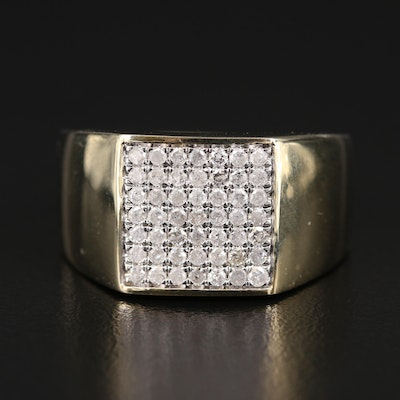 10K Diamond Cluster Tapered Band