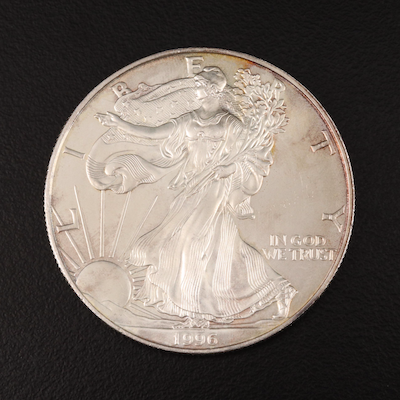 Key Date 1996 $1 American Silver Eagle Bullion Coin
