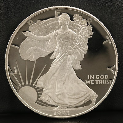 Lower Mintage 1993-P $1 American Silver Eagle Proof Bullion Coin