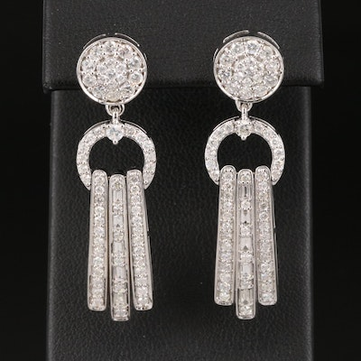 14K 2.08 CTW Pavé Diamond Earrings
