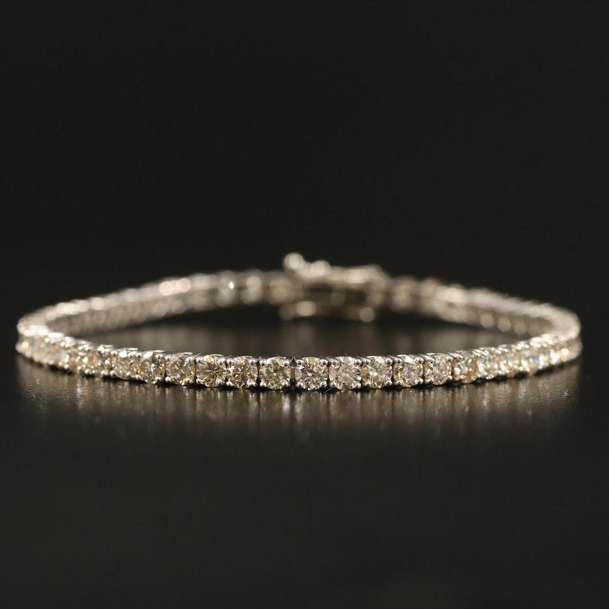 14K 6.76 CTW Diamond Tennis Bracelet