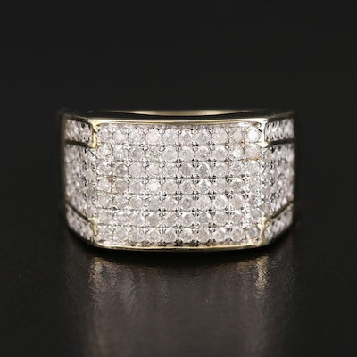 10K 1.25 CTW Diamond Tapered Band