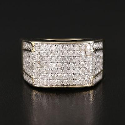 10K 1.25 CTW Diamond Tapered Band