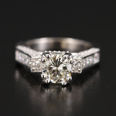 14K Diamond Ring with 1.30 CT Center