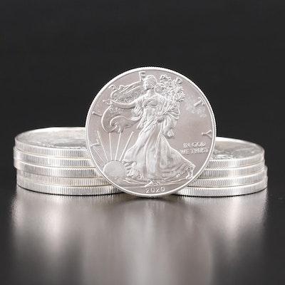 Ten $1 American Silver Eagles