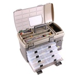 Plano 7771 Tackle Box Including Reels, Lures, and Spools