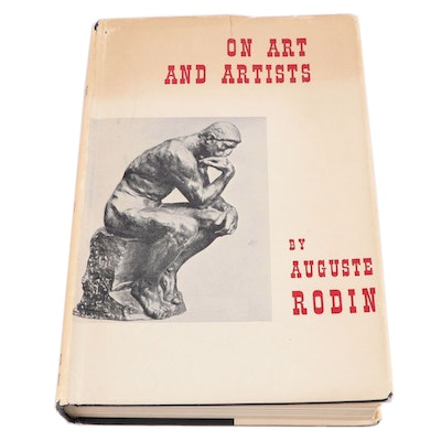 "First English Language Edition ""On Art and Artists"" by Auguste Rodin, 1958"