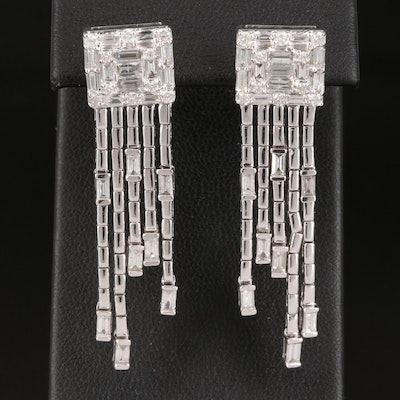 14K 2.04 CTW Diamond Waterfall Earrings