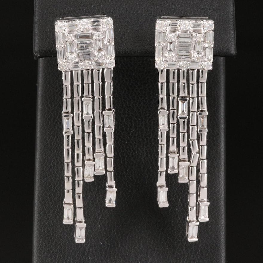 14K 2.04 CTW Diamond Waterfall Earrings