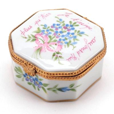 La Seynie Limoges Hand-Painted Porcelain Box