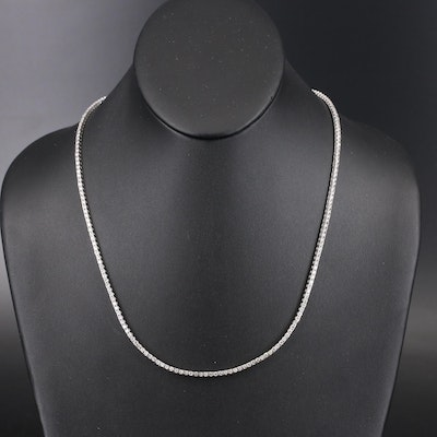 14K 7.02 CTW Diamond Rivière Necklace