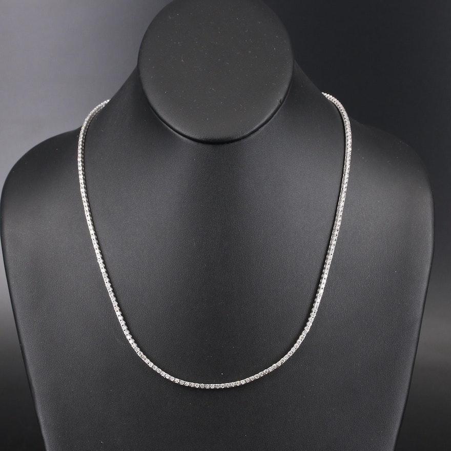 14K 7.02 CTW Diamond Rivière Necklace