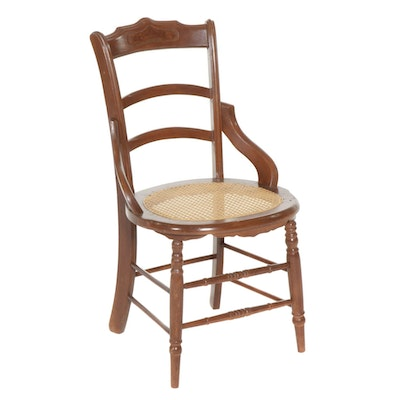Victorian Walnut Caned Seat Side Chair, Late 19th Century