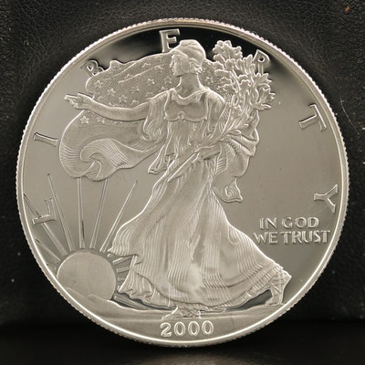 2000-P $1 American Silver Eagle Proof Bullion Coin
