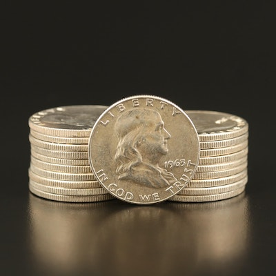 Roll of Franklin Silver Half Dollars, 1960–1963