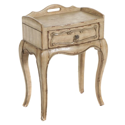 Hooker Furniture French Provincial Style Paint-Decorated Wooden Side Table