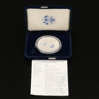.999 Fine Proof Silver Eagle Coin, 1995-W