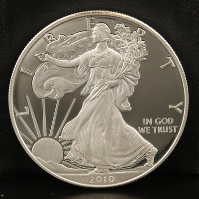 .999 Fine Proof American Silver Eagle Coin, 2010-W