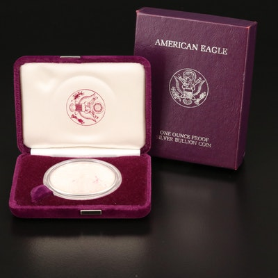 First Year of Issue 1986-S $1 American Silver Eagle Proof Bullion Coin