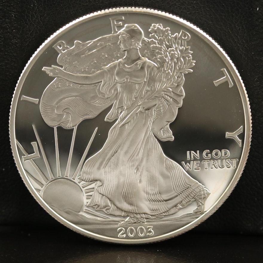 .999 Fine Proof American Silver Eagle Coin, 2003-W