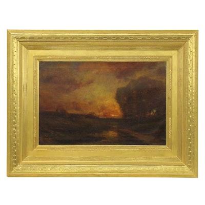 Charles P. Appel Tonalist Style Landscape Painting, 1921