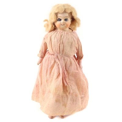 German Papier-Mâché Pumpkin Head Doll, 20th Century