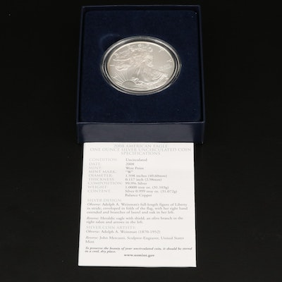 2008-W $1 American Silver Eagle Bullion Coin