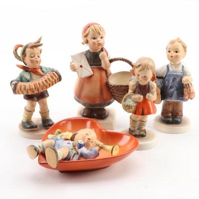 "Goebel ""Boots"", ""School Girl"" and Other Porcelain Figurines"