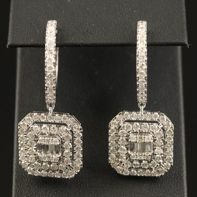 14K 5.02 CTW Diamond Hoop Earrings