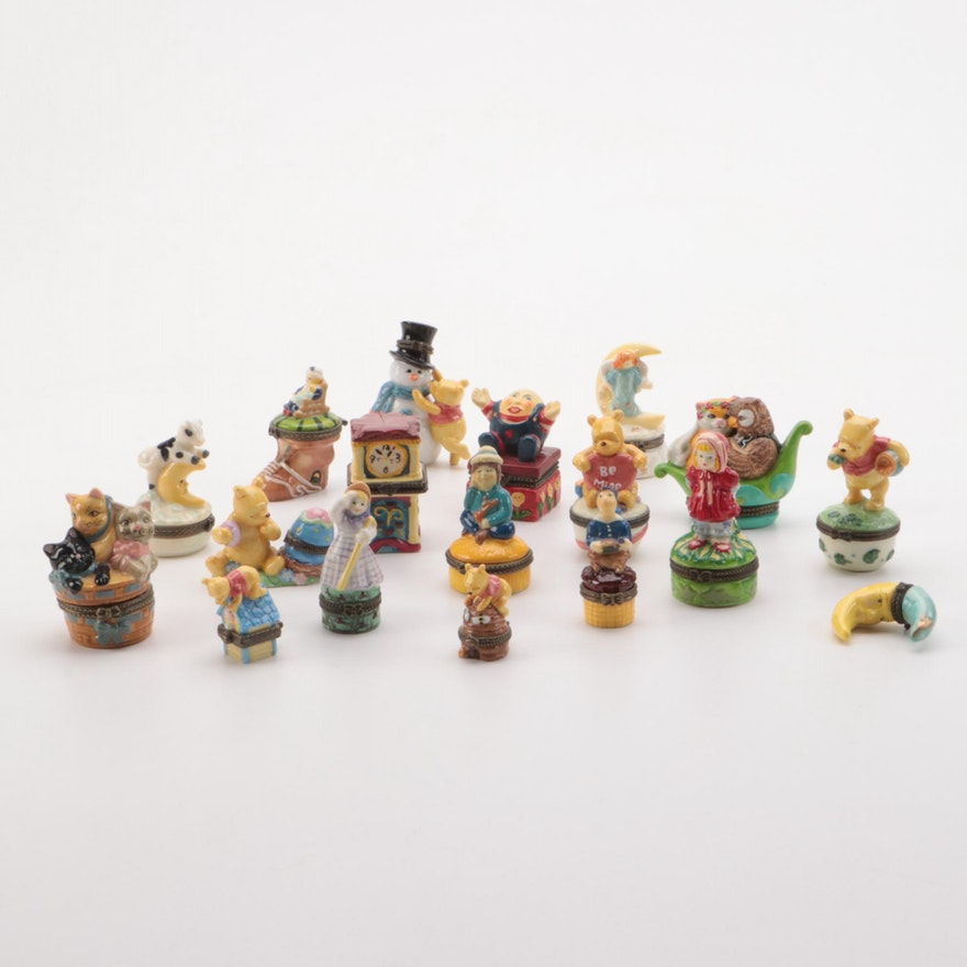 Disney and Other Porcelain Novelty Vanity Boxes