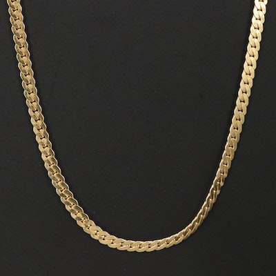 18K Curb Link Necklace