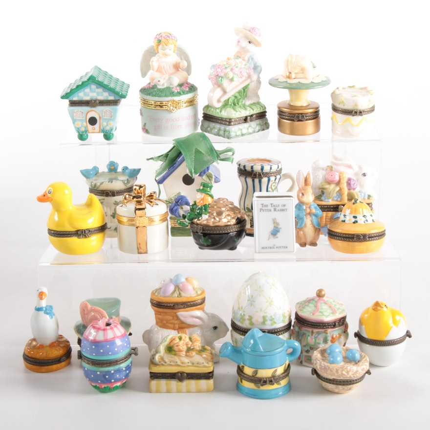 """Lenox """"Tiny Treasures"""" Porcelain Gift Box with Other Decorative Boxes"""