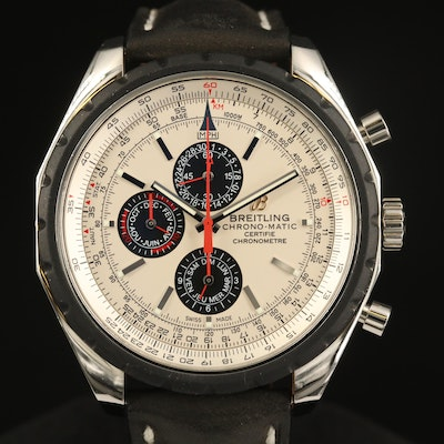 Breitling Chrono-Matic 1461 Limited Edition Stainless Steel Automatic Wristwatch