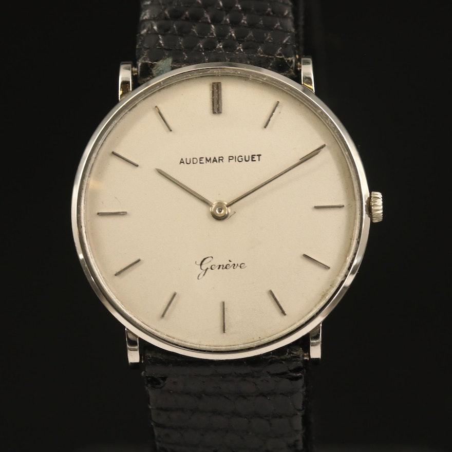 Vintage Audemars Piguet Ultra-Thin 18K White Gold Wristwatch