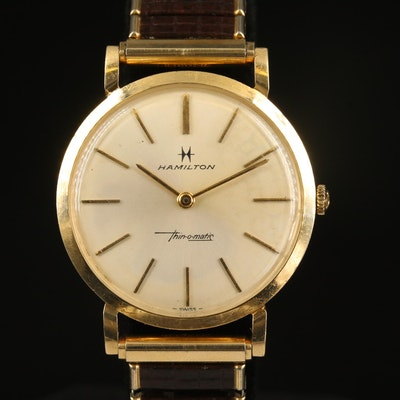 Hamilton 14K Thin-o-matic Wristwatch