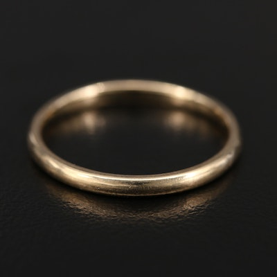 14K Smooth Finish Band