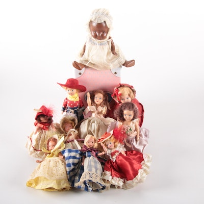"Nancy Ann Storybook Dolls ""Saturday's Child"", ""Queen of Hearts"" and Other Dolls"