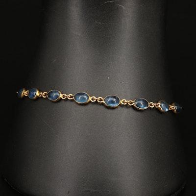 18K Sapphire Link Bracelet