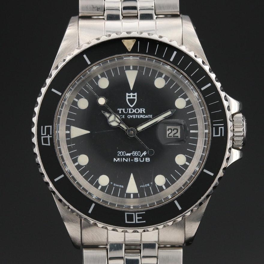 1987 Tudor Prince Oysterdate Mini-Sub Stainless Steel Automatic Wristwatch