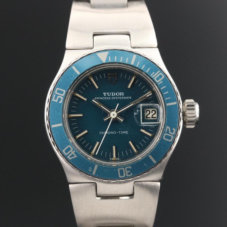 1974 Tudor Chrono-Time Stainless Steel Automatic Wristwatch