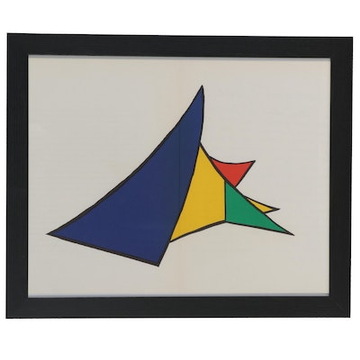 "Alexander Calder Color Lithograph for ""Derrière le Miroir"""