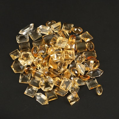 Loose 74.93 CTW Faceted Citrine Selection