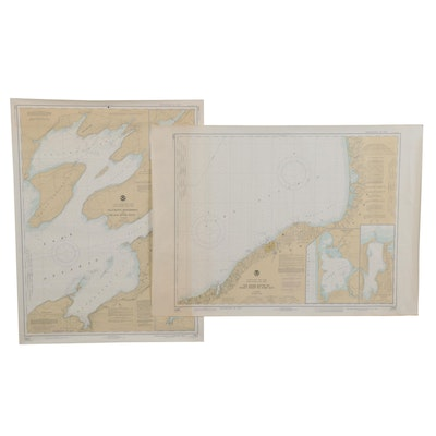 NOAA Great Lakes Lake Ontario to New York Maps, Early/Mid 20th Century
