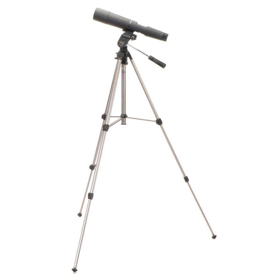 Celestron 60mm Zoom Spotting Scope on Promaster 6300 Tripod