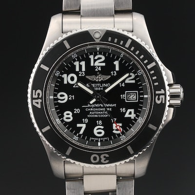 "Breitling ""SuperOcean II 44"" Stainless Steel Wristwatch"