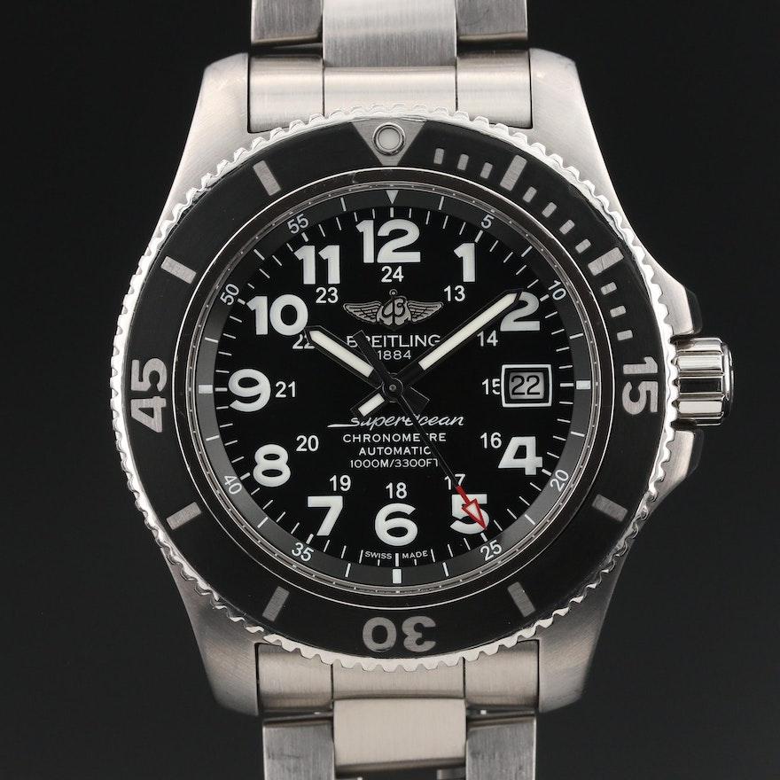 "Breitling ""SuperOcean II 44"" Stainless Steel Wristwatch"